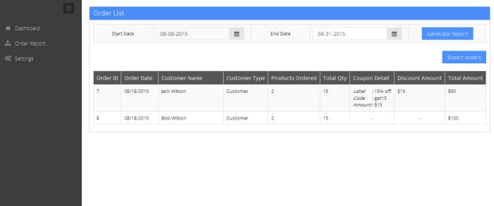 Generate custom order reports