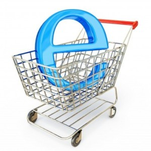 15300605-e-commerce-sign-in-a-trolley-on-a-white