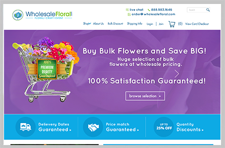Wholesale Floral Website Design