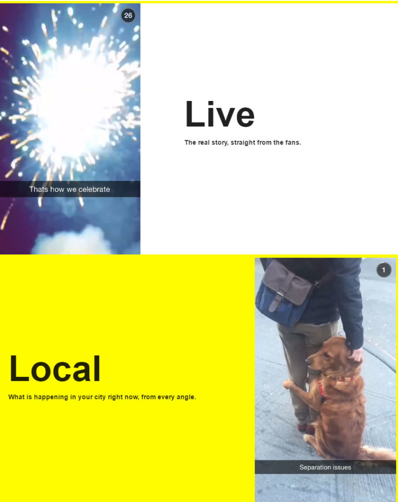 Snapchat live and local