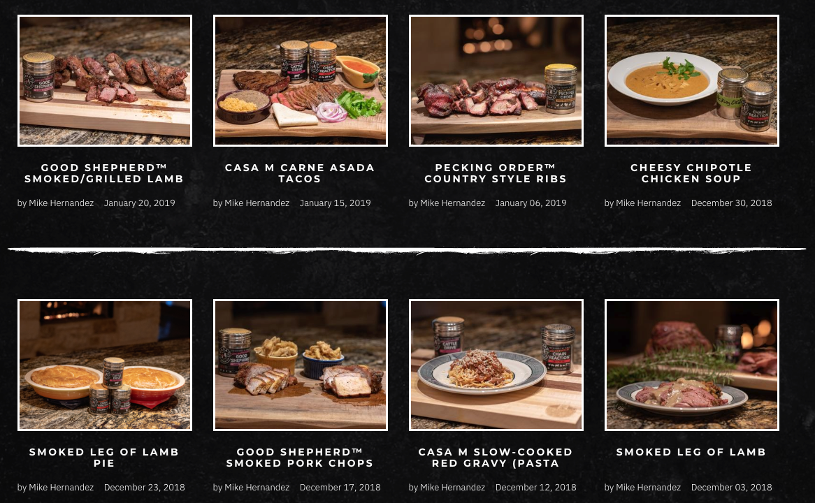 casa m spice co website design