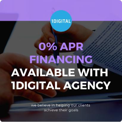 1Digital offers 0% APR Financing eCommerce Design & Development