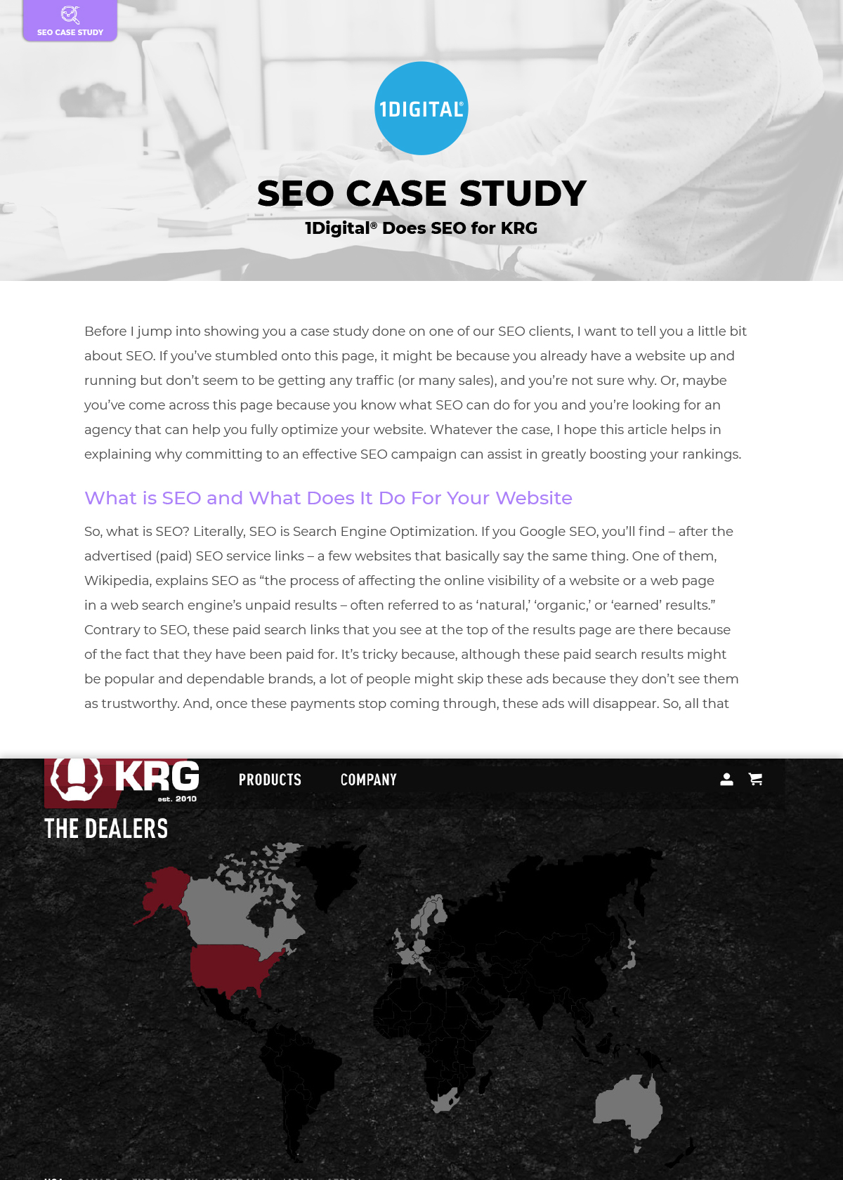 1Digital<sup>®</sup> Does SEO for KRG