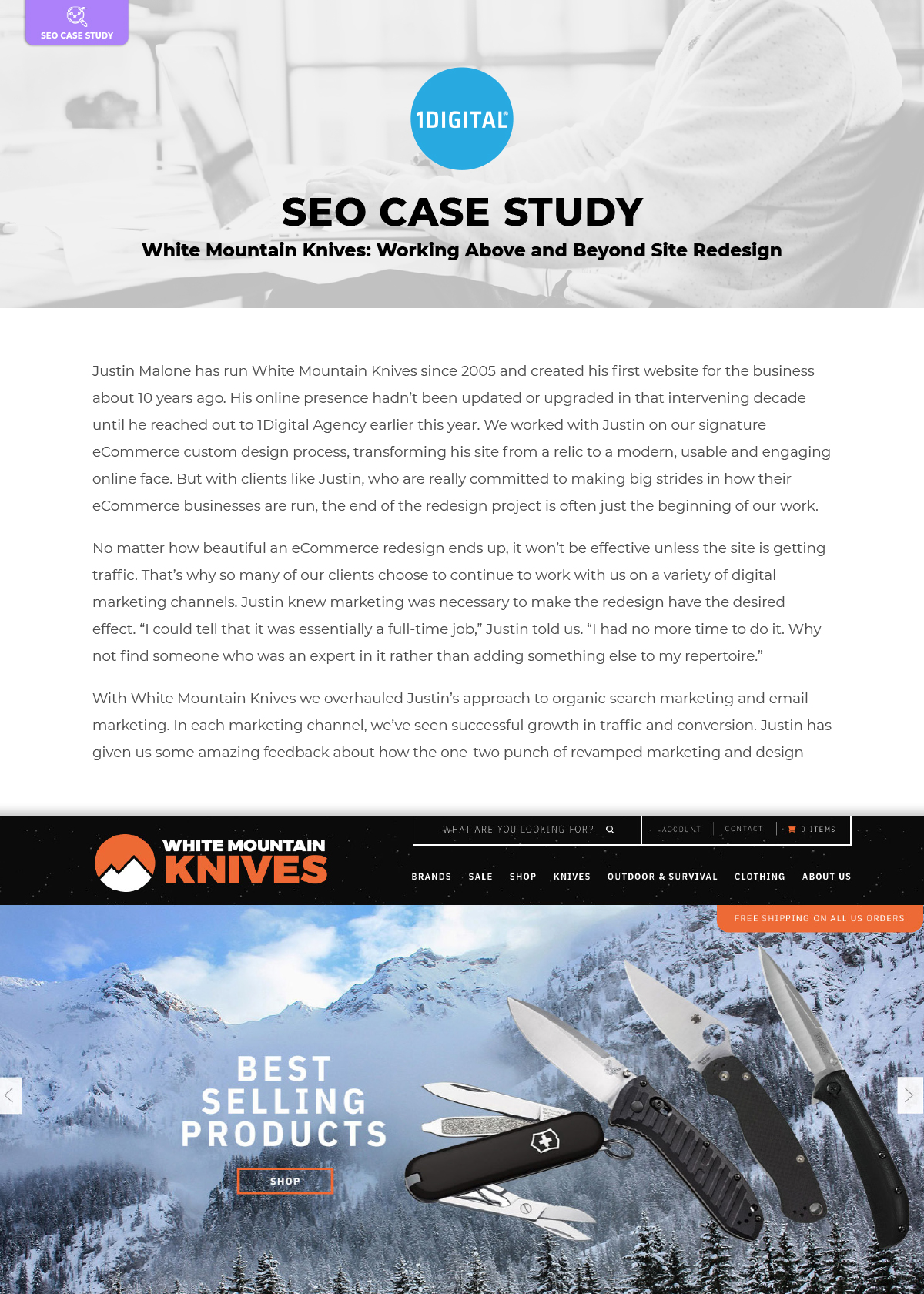 White Mountain Knives: Working Above and Beyond Site Redesign
