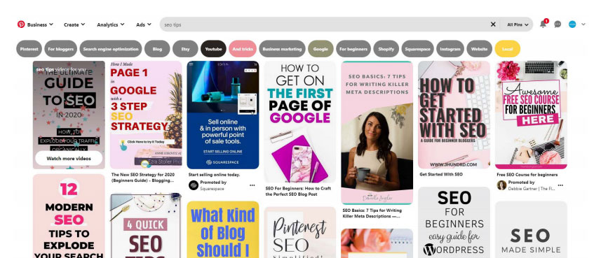 Applying On-Page SEO Principles for Pinterest Success