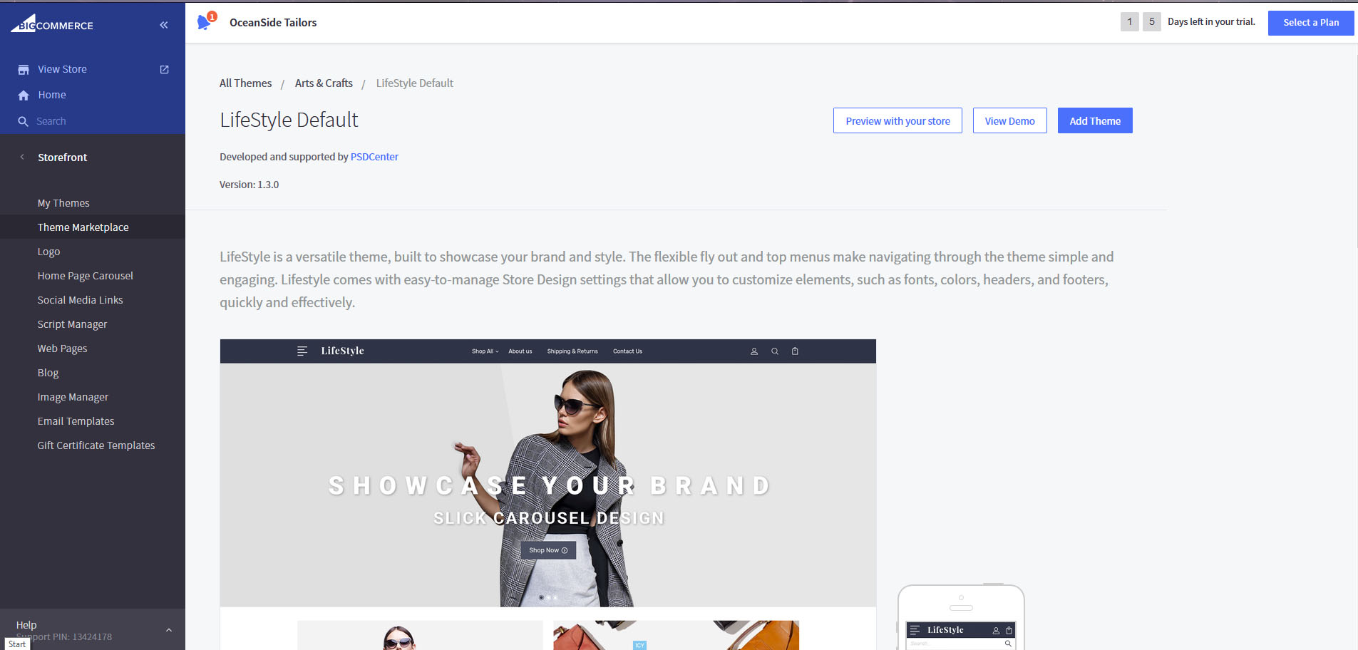 Choose BigCommerce Theme