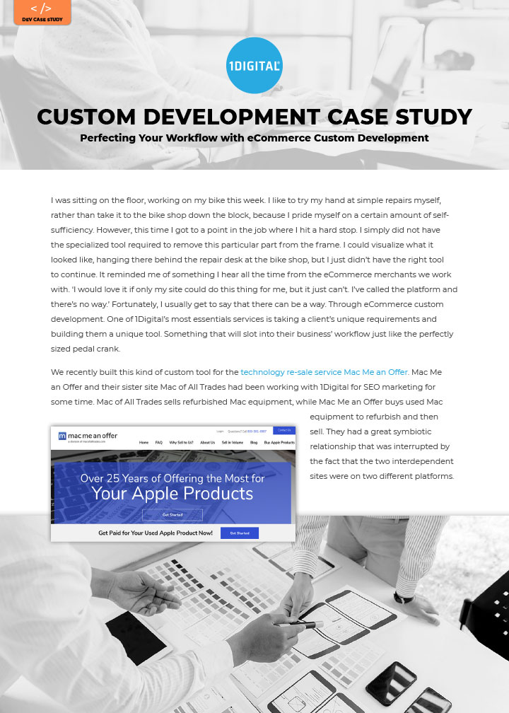 Perfecting Your Workflow with eCommerce Custom Development