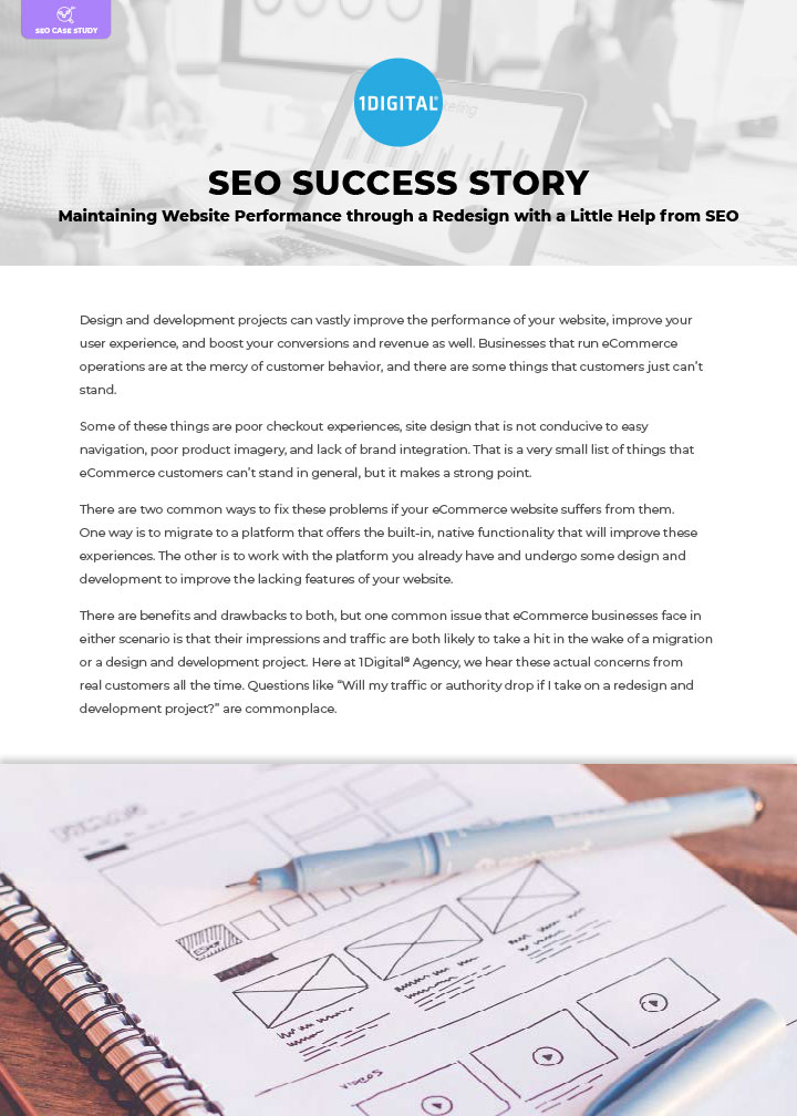 Maintaining Website Performance through a Redesign with a Little Help from SEO