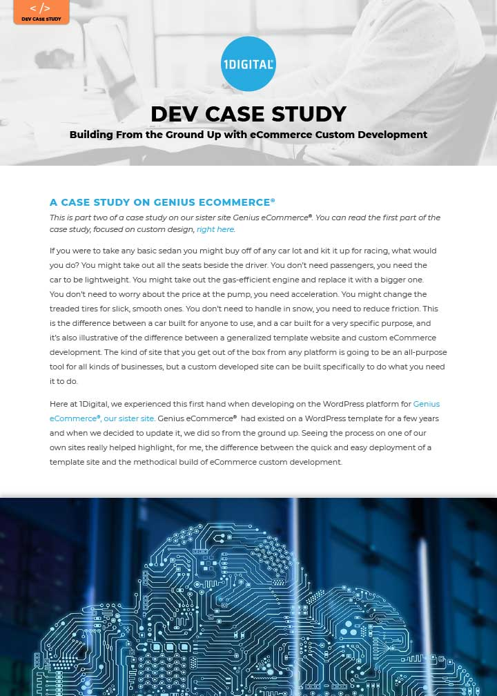 Building From the Ground Up with eCommerce Custom Development