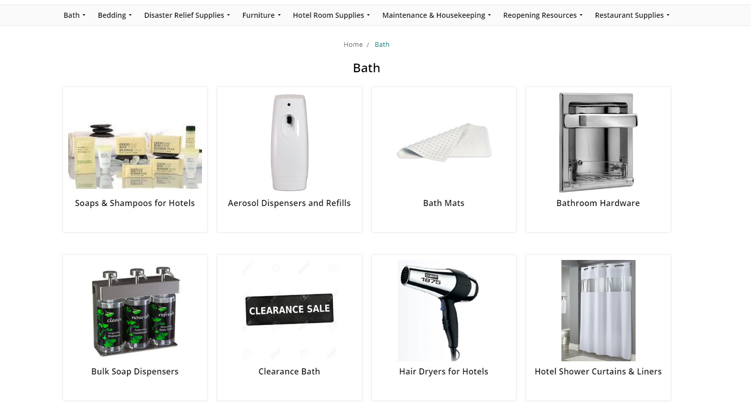 Mayfair Sub Category Landing Page