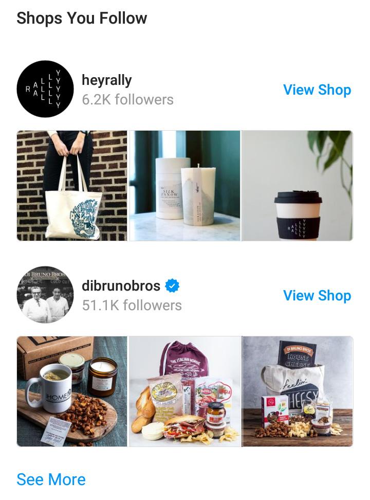 Instagram Shop Feed